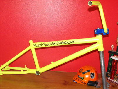 BMX frame and bars in Neon Yellow