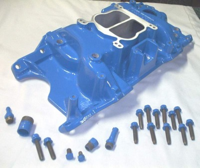 Mopar intake, fittings and hardware in Skiers Blue